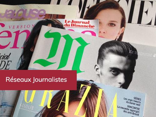Réseaux Journalistes, agence Celebrity&Co